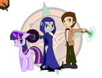 dragon-fangx japanese magic pumpkin raven the_doctor twilight_sparkle va_joke