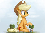 applejack big fence giant_hat hat highres huge_jerk ncmares rainbow_dash tree