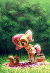 anthro basket fluttershy highres holivi squirrel