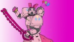 armor crossover ghettomole humanized muffin pinkie_pie space_marine sword warhammer_40k weapon