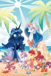 apple_bloom beach clothes crab cutie_mark_crusaders dress flowers guitar highres princess_celestia princess_luna s-bis scootaloo sea spike sweetie_belle trees