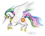 horselike princess_celestia stephaniesmall traditional_art