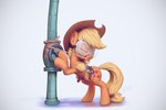 applejack assasinmonkey goggles hammer highres pipe tape tools