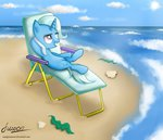 beach beach_chair highres seashell the_great_and_powerful_trixie vird-gi