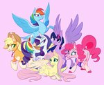 applejack famosity fluttershy highres main_six pinkie_pie princess_twilight rainbow_dash rarity twilight_sparkle