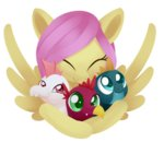 baby dragon dusthiel fluttershy highres