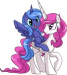 archeopony filly princess_celestia princess_luna young