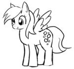 derpy_hooves lineart trackpad_mcderp