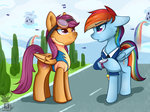 highres rainbow_dash scootaloo shadowreindeer