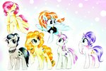 cloudy_quartz cookie_crumbles highres liaaqila mrs_shy parents pear_butter traditional_art twilight_velvet windy_whistles