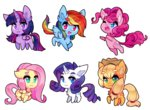 applejack fluttershy main_six pekou pinkie_pie princess_twilight rainbow_dash rarity twilight_sparkle