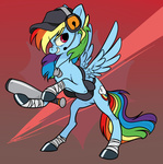 8-xenon-8 baseball_bat cap dog_tag headphones rainbow_dash scout team_fortress_2