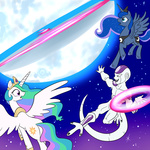 dragon_ball_z frieza madmax moon princess_celestia princess_luna