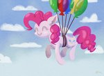 absurdres balloon catscratchpaper cloud flying highres pinkie_pie