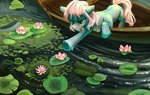boat flowers highres original_character teaflower300 water