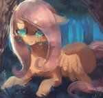 crying_under_the_rain_and/or_over_a_body_of_water fluttershy forest tears xishka
