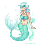butterfly-pants humanized lyra_heartstrings mermaid