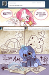 ask ask-chibilestia baby comic drawing filly inkwell muffin pacifier philomena princess_celestia princess_luna quill suirobo turtle