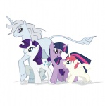 amalthea crossover inspectornills rarity the_last_unicorn twilight_sparkle unico