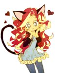 cat_ears equestria_girls humanized memoneo sunset_shimmer