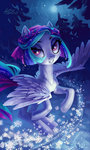 highres holivi original_character snow trees