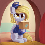 anti1mozg box clothes derpy_hooves hat highres