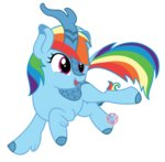 highres kirin lovinglypromise rainbow_dash species_swap