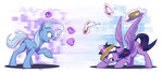 highres magic pancakes princess_twilight teacup the_great_and_powerful_trixie tsitra360 twilight_sparkle