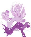 amethyst_star changeling derpy_hooves dinky_hooves dstears highres