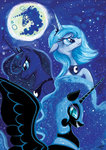colourbee highres mare_in_the_moon moon nightmare_moon princess_luna tears traditional_art