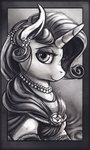 absurdres banthaart dress grayscale highres rarity