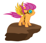 bernd01 goggles scootaloo steampunk transparent wings
