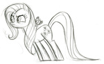 fim_crew fluttershy lauren_faust production_art sketch the_stare