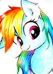 highres liaaqila rainbow_dash traditional_art