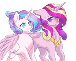 grown_up princess_cadance princess_flurry_heart yuyusunshine