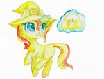 0okami-0ni filly hat highres magic sunset_shimmer traditional_art