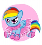 angry dress filly frilly itchymango rainbow_dash tutu