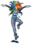 humanized rainbow_dash the_artrix