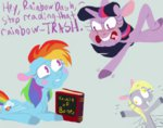 book comic derpy_hooves huge_jerk owned rainbow_dash sugaryboogary twilight_sparkle