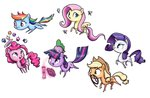 applejack book butterfly cake fluttershy highres king-kakapo magic main_six pinkie_pie rainbow_dash rarity spike twilight_sparkle