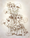 applejack cheerleader highres kp-shadowsquirrel rainbow_dash rarity