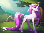 antiander crown flowers highres original_character ponified tree tree_of_harmony