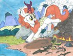 absurdres autumn_blaze brisineo highres kirin traditional_art