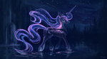highres nighttime plainoasis princess_luna stars trees