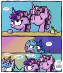 comic foxy-noxy hair_curlers highres princess_cadance princess_celestia princess_luna twilight_sparkle