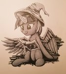 book hat magic princess_twilight sigilponies traditional_art twilight_sparkle