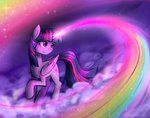 cloud its-gloomy magic princess_twilight rainbow twilight_sparkle