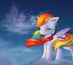 absurdres autumnvoyage cloud highres rainbow_dash scarf