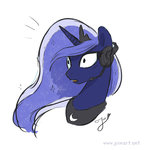 headphones joieart portrait princess_luna