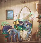 absurdres bow brush highres magic mirror mirroredsea original_character